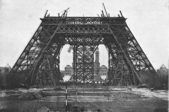 Exposition universelle de 1889 : Construction de la Tour Eiffel